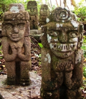A group of stone figures